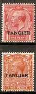 MOROCCO AGENCIES (TANGIER) 1927 1d, 2d SG 232, 234 MOUNTED MINT Cat £14+ - Oficinas En  Marruecos / Tanger : (...-1958