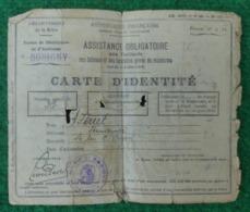 Carte D'identité Pour Vieillards Et Autres Démunis Des Années 1930 - Département De La Seine - Commune De Bobigny - Old Paper