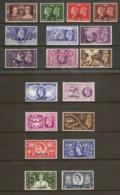 MOROCCO AGENCIES (TANGIER) 1937 - 1953 COMMEMORATIVE SETS MOUNTED MINT Cat £20 - Oficinas En  Marruecos / Tanger : (...-1958