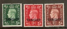 MOROCCO AGENCIES (TANGIER) 1937 SET SG 245/247 MOUNTED MINT Cat £35 - Oficinas En  Marruecos / Tanger : (...-1958