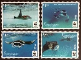 Raratonga Cook Islands 2016 WWF Manta Ray Fish MNH - Peces