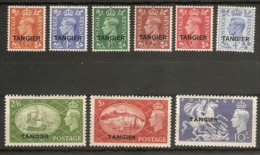 MOROCCO AGENCIES (TANGIER) 1951 SET SG 280/288 (LIGHTLY) MOUNTED MINT Cat £60 - Oficinas En  Marruecos / Tanger : (...-1958