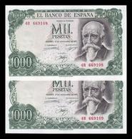 España Pareja 1000 Pesetas José Echegaray 1971 Pick 154 Serie A EBC/+ XF/ - [ 3] 1936-1975: Franco