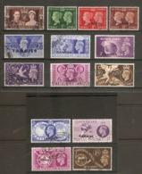MOROCCO AGENCIES (TANGIER) 1937 - 1949 COMMEMORATIVE SETS FINE USED Cat £47+ - Morocco Agencies / Tangier (...-1958)