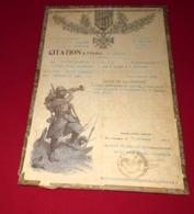 COLONIALE 4 ÈME RIC , BELLE CITATION POUR UN SERGENT, 14/18 - 1914-18