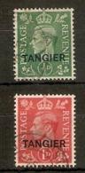 MOROCCO AGENCIES (TANGIER) 1944 PALE COLOURS SET SG 251/252 FINE USED Cat £10 - Oficinas En  Marruecos / Tanger : (...-1958