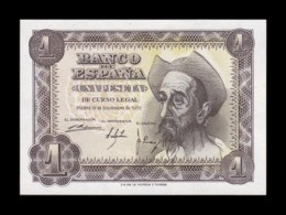 España 1 Peseta Don Quijote De La Mancha 1951 Pick 139 Serie Q SC UNC - 1-2 Pesetas