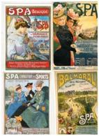 SPA  5 Retro-publi Cards - Spa
