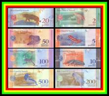 * Venezuela Set 2 5 10 20 50 100 200 500 Bolivars 2018 ! UNC ! Set 8 Notes - Venezuela