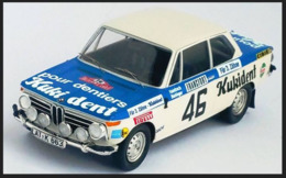 BMW 2002 Ti - Kukident - R. Hainbach/W. Biebinger - Rally Monte Carlo 1973 #46 - Troféu - Trofeu