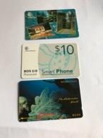 Barbados - 3 Different Phonecards - Barbados