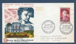 France - FDC - Premier Jour - Musée - Quentin De La Tour - 1957 - FDC