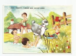 Cpm Humour Belge Ouin Biquiette Chèvre A Mangé Mon Soutien Gorge , Imprimé En Belgique - Humour
