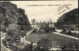 Cp Villecresnes Val-de-Marne, Château De Gros Bois, Les Parterres - Francia