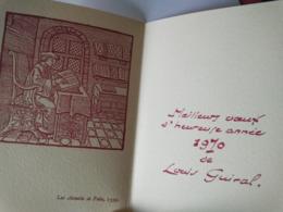 Carte De Voeux Double Imprimé - Meilleurs Voeux 1970 De LOUIS GUIRAL - Avec Illustration Les Annales De Foix 1539 - - Neujahr
