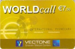 Carte Prépayée - VECTONE WORLD CALL - 7.5 € - Frankrijk