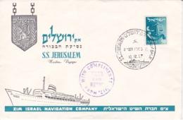 S.S. Jerusalem (Paquebot) 10.12.1957 - Poste Maritime - Israel