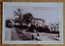 95 : Soisy-sous-Montmorency - La Gare Et Le Passage à Niveau - Reproduction De CPA Format CPM 10 X 15 + Cadre -(n°16341) - Soisy-sous-Montmorency