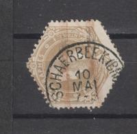 COB 5 Oblitéré SCHAERBEEK (Bruxelles) - Telegraph
