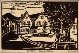 Artiste Cp Greyenbuhl, Ch., Ottrott Elsaß Bad Rhin, Place Des Tilleuls - Frankrijk