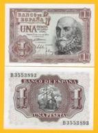 Spain 1 Peseta P-144 1953 UNC Banknote - Spanien