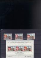 ORDRE DE MALTE 113/115** + F 113** SUR L ANNEE SAINTE 1975 - Malte (Ordre De)