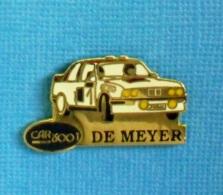 1 PIN'S //  ** BMW M3 RALLYE / DOMINIQUE DE MEYER / CAR 3001 ** - BMW