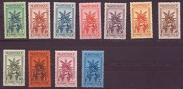 Martinique N° 12 à 22** TAXE - Martinica (1886-1947)