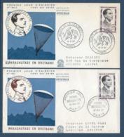 France - FDC - Premier Jour - Parachutage En Bretagne - Paris - 1957 - 1950-1959