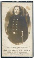 Doodsprentje Jan Lambert Driesen - Gesneuveld Slag Van Haecht 1914 - Geboren Diepenbeek 1889 - Images Religieuses