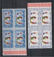 REPUBBLICA:  1957  EUROPA  CEPT  -  S. CPL. 2  VAL. BL. 4  N. -  SASS. 817/18 - Europa-CEPT