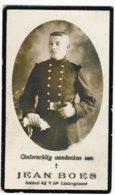 Doodsprentje Jean Boes - Gesneuveld Haecht 1914 - Geboren Wellen 1891 - Devotieprenten