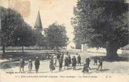 CPA 40 Landes Biscarrosse Bourg Place Publique Le Vieil Ormeau Enfants Ecoliers - Biscarrosse