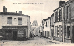 ¤¤  -   LEGE   -   Place Du Marché Et Rue De L'Eglise    -  ¤¤ - Legé