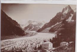 Photographie Haute Savoie Chamonix Mer De Glace Vue Du Mont Envert RARE Photo Couttet Aug 1899 ( 191104) - Lugares