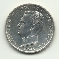 1966 - Monaco 5 Francs Argento - Monaco