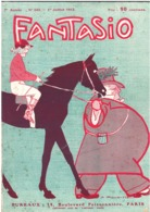Fantasio 143 - 07.1912 - Gervèse Marine Matelot - Loto à Bord - Ligue Antisalomique - Dr Metchnikoff - Books, Magazines, Comics