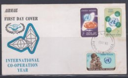 Papua New Guinea 1965 UNO FDC(LAE Cancellation) - Papouasie-Nouvelle-Guinée