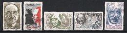 France 1981 : Timbres Yvert & Tellier N° 2148 - 2149 - 2150 - 2151 - 2152 Et 2153 Avec Oblitérations Rondes. - France