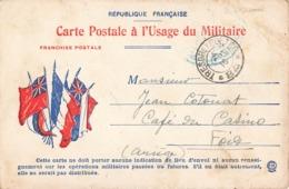 Carte Correspondance Franchise Militaire Cachet Tresor Et Postes 1916 Secteur Postal 84 à Usage Militaire - Marcophilie (Lettres)