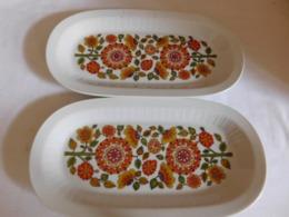 Suite De Deux Raviers  Porcelaine Seltmann Weiden  Bavaria  Seventies Orange - Seltmann-Weiden (DEU)