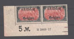 Belgien,25,II,HAN,gep.Marken Xx,Falz Im UR - Besetzungen 1914-18