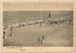 W5390 Francavilla Al Mare (Chieti) - Panorama Della Spiaggia - Beach Plage Strand Playa / Viaggiata 1950 - Italien