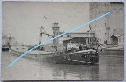 Photo Péniche Binnenscheepvaart Barge Belgium Circa 1930 Orbite - Lieux