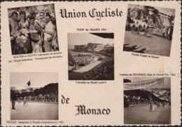 Sur CP Union Cycliste De Monaco 5 Vues YT 390 CAD Illustré Tour De France Cycliste 17e étape 21 7 55 Monaco - Storia Postale