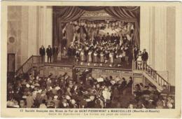 54    Mancieulles   Societe  Des Mines De Fer De Saint-pierremont  Salle De Spectacle  La Scene Un Jour De Seance - France
