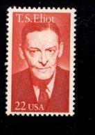 862406422 SCOTT 2239 POSTFRIS MINT NEVER HINGED EINWANDFREI (XX) - LITERARTY ARTS T.S. ELIOT POET - United States