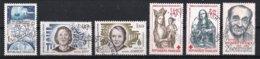 France 1983 : Timbres Yvert & Tellier N° 2292 - 2293 - 2294 - 2295 - 2296 Et 2298 Avec Oblit. Rondes - Frankreich