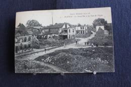 G-201 /[59] Nord  Autres Communes,Guerre Mondial 1914-1918 - Wavrin - La Grand'Rue Et La Place De L'Eglise /circulé 1921 - France