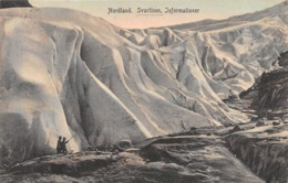 """M08766 """"NORDLAND-SVARTISEN-ISFORMATIONER"""" GHIACCIAIO-CART. ORIG. SPED. 1912 - Norvegia"""